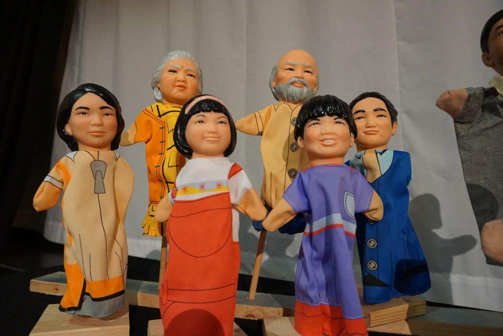 Chinesische Handpuppen-Familie
