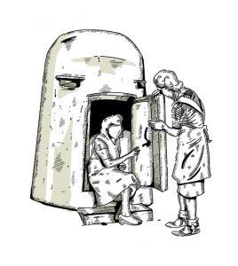 Illustrierter Einmanbunker