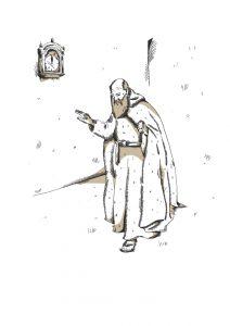 Der Mönch mit den behaarten Händen
