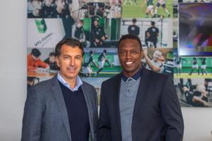 Gemeinsam bilden sie die Spitze der VfL-Fußball.Akademie: Francisco Coppi und Pablo Thiam.
