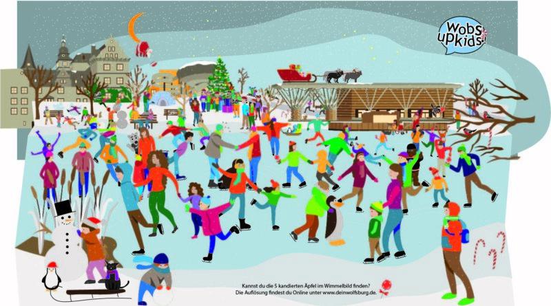 Wolfsburger Weihnachtswimmelbild