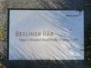 Schild Berliner Bär