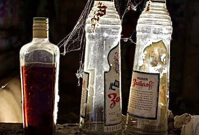 Alte Glasflaschen