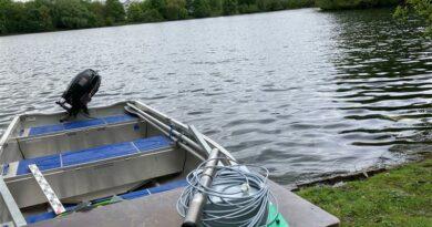 Sensorikmessstab auf einem Boot