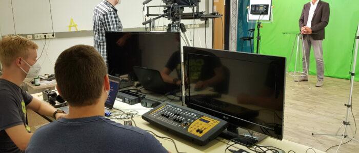 Im Aufnahmeraum von TV38